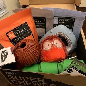 New Bark Box Super Chewer Dog Toys and Treats